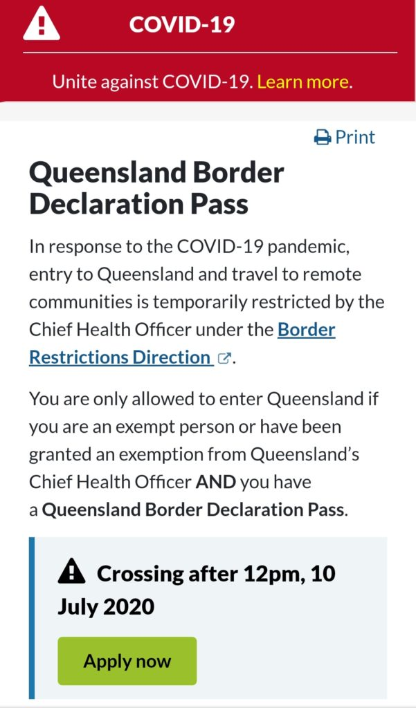 Queensland Border Declaration Pass | mimi旅